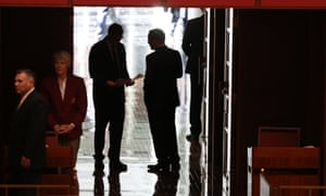 Senator Ricky Muir leaves the senate for a cuppa with the GG.