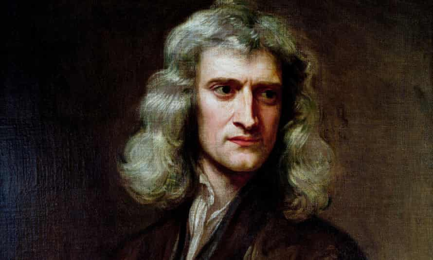 Detail from a portrait of Isaac Newton by Godfrey Kneller Kneller, dated 1689 (courtesy of Uckfield House, Uckfield).