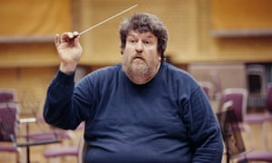 Oliver Knussen conducts the Birmingham Contemporary Music Group in rehearsal at the CBSO Centre, Birmingham.