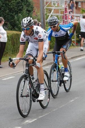 Jean-Marc Bideau leads Jan Barta.