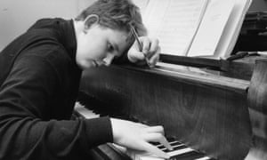 18 September 1967:  Composer and conductor Oliver Knussen works at the piano, at the age of 15.