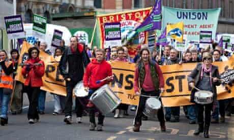 Bristol public sector strikers 2011