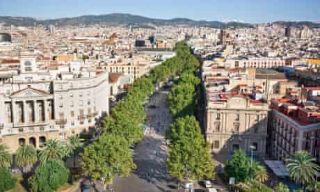 Ramblas in Barcelona.