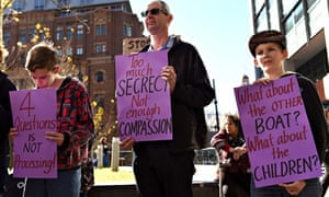 A Sydney protest against the Australian government's treatment of Sri Lankan asylum seekers