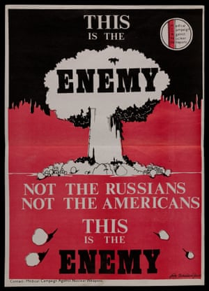 """This is the enemy"" - 1980s leaflet from the Medical Campaign Against Nuclear Weapons (MCANW)."
