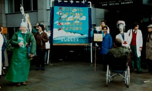 Medical Campaign Against Nuclear Weapons protest, 1980s.