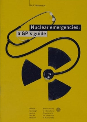 Medical Campaign Against Nuclear Weapons pamphlet from the 1980s.