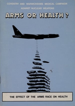 """Arms of Health?"" Pamphlet from the Coventry and Warwickshire Medical Campaign Against Nuclear Weapons, 1980s."