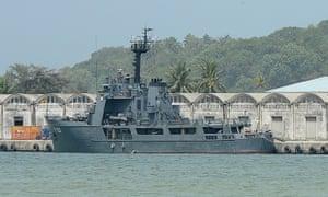 The Sri Lankan naval vessel the Samudra