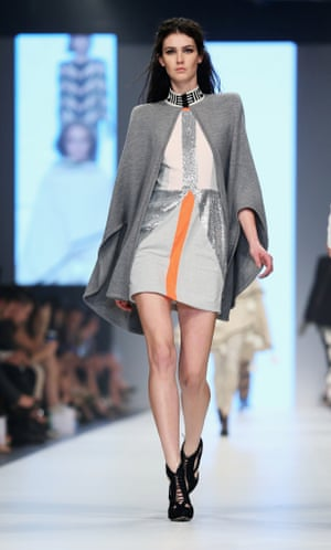 A model wears Sass & Bide in Melbourne.