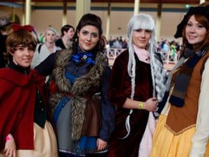 Cosplayers at Oz Comic-Con 2014 in Melbourne.