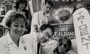 Anti-nuclear medic protest, 1980s.