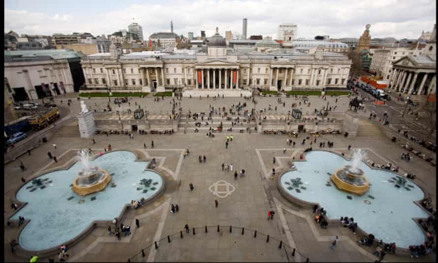 The Norman Foster-led pedestrianisation of Trafalgar Square was completed in July 2003.