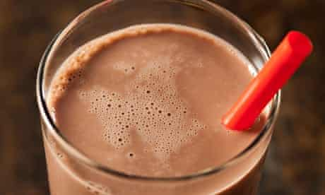 Studies indicate that chocolate milk contains the ideal carbohydrate-to-protein ratio for post-run r