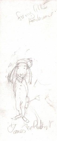 Babette Cole: James as rabbit