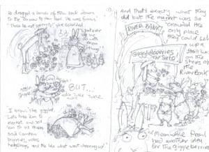 Babette Cole: storyboard