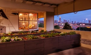 A SCADpad apartment and community garden in a multi-storey car park overlooking downtown Atlanta