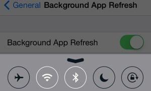 iOS battery saving