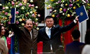 Daniel Ortega and Wang Jing