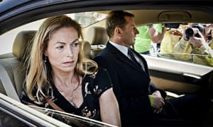 Kate McCann and husband Gerry McCann leave the court house in Lisbon