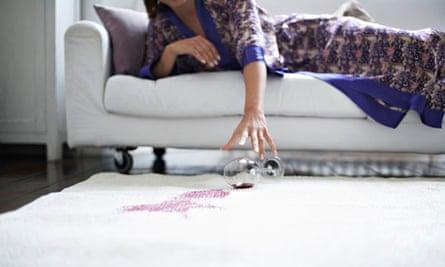Stain on white carpet