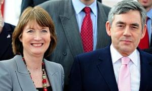 Harriet Harman and Gordon Brown in 2010.