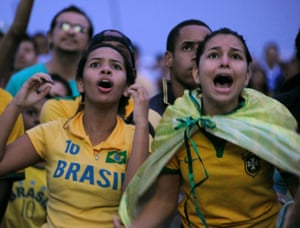 And disbelief at the Rio de Janeiro fan fest.