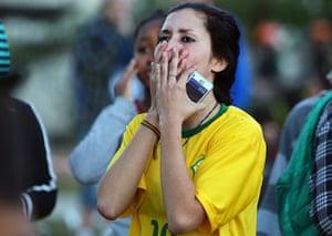 Brazilians in shock: Brazil v Germany
