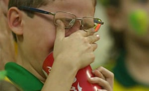 Brazil mourns: Brazil fan crying after the fourth goal went in