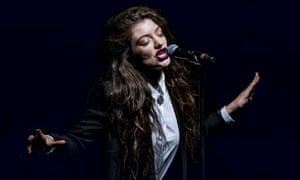 Lorde, pictured here from her recent performance in London.