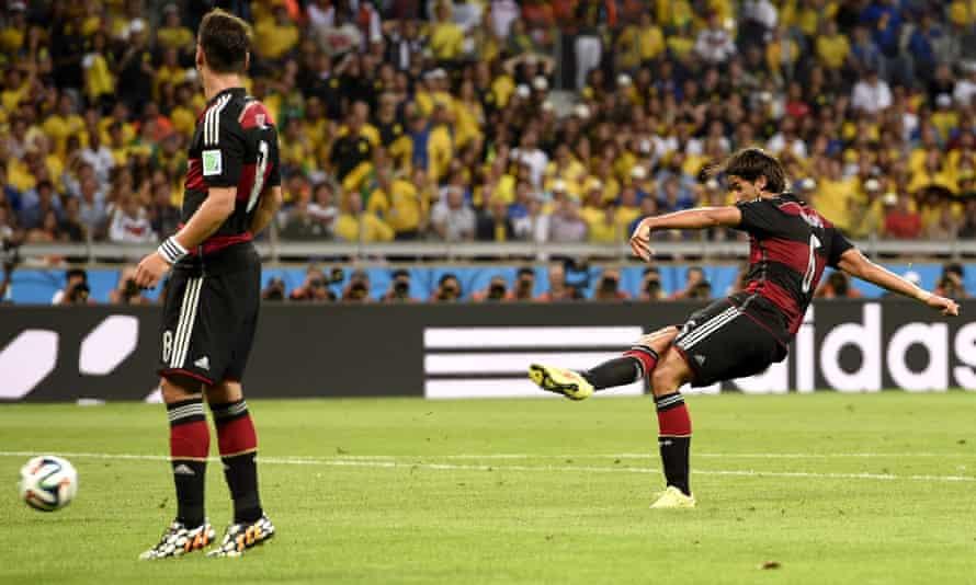 Sami Khedira's goal for Germany against Brazil set Twitter aflame.