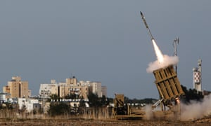 An Iron Dome launcher fires an interceptor rocket in the southern Israeli city of Ashdod in November 2012.
