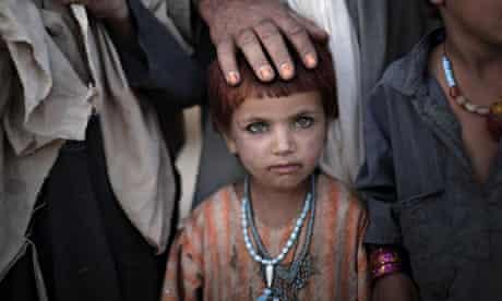 Afghan girl in Helmand, Afghanistan