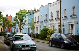 A row of houses in London.