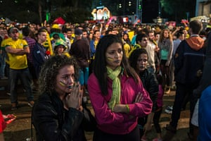 Mourning Brazil: fans watch Fifa World Cup 2014 semi-final against Germany