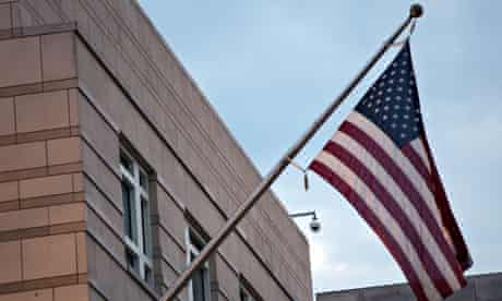 The US embassy in Berlin.