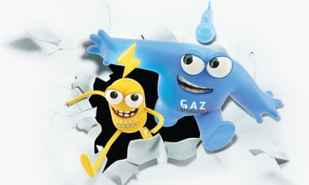 Gaz and Leccy, smart meter mascots
