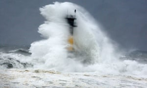 High wave hits a lighthouse as typhoon Neoguri approaches the Korean Peninsula in Seogwipo South Korea.