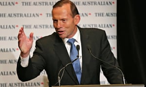 Australian prime minister Tony Abbott speaks during the 2014 Economic and Social Outlook Conference