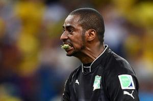 weird sport: Greece v Cote D'Ivoire: Group C - 2014 FIFA World Cup Brazil