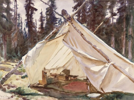 A tent in the rockies