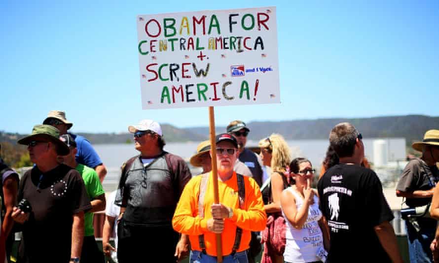 Anti-immigration activists protest in California