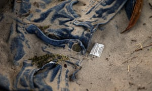 A pair of discarded jeans at the US-Mexico border