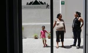 Two pregnant Salvadoran women