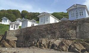 Boutique Beach Huts, near Ilfracombe in Devon.
