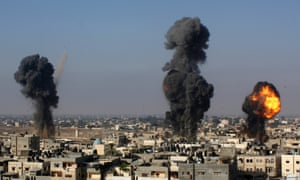 Israeli missiles hit smuggling tunnels between Egypt and the Gaza Strip, in Rafah, southern Gaza Strip, Wednesday, July 9, 2014. air strike palestine