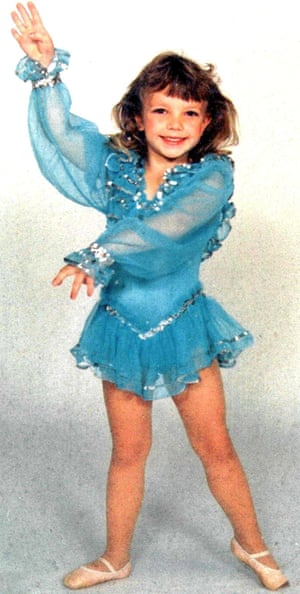 Britney at a dance pageant when she was just 4 years old.