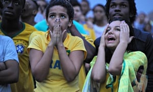 Brazil fans react to their team's World Cup defeat