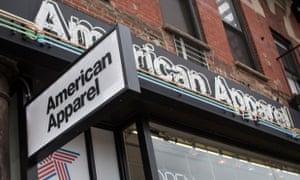American Apparel in New York City.