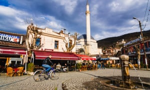 Prizren's main square and the Sinan Pasha mosque
